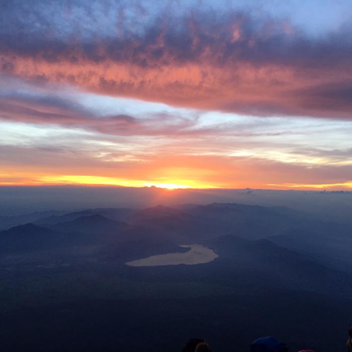 富士山頂から見た山中湖